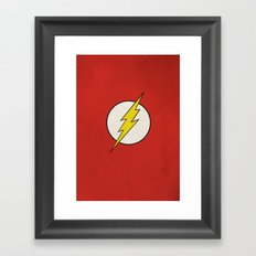 Flash Minimalist  Framed Art Print