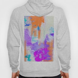 Abstract Painting with Stencil Hoody