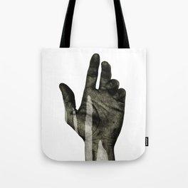 hand black Tote Bag