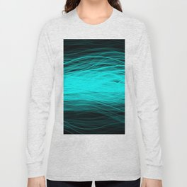 Electric Aqua Long Sleeve T-shirt
