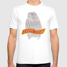 Falcon Carpe Diem MEDIUM Mens Fitted Tee White