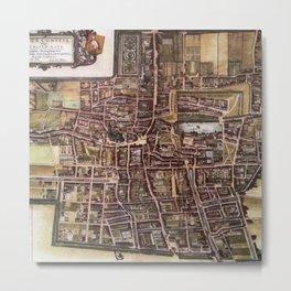 Replica city map of The Hague 1649 Metal Print