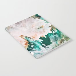 Teal and Gold Abstract Notebook