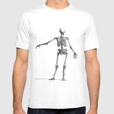 Skeleton Mens Fitted Tee White LARGE