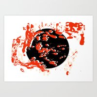 Worlds Protected No. 3 with White Background Art Print