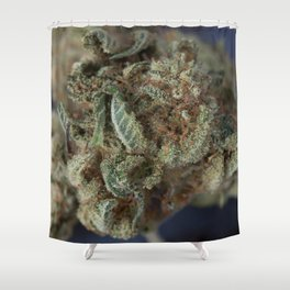 Close up of Deep Sleep Medicinal Medical Marijuana Shower Curtain