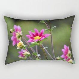 Magenta Dahlias Rectangular Pillow