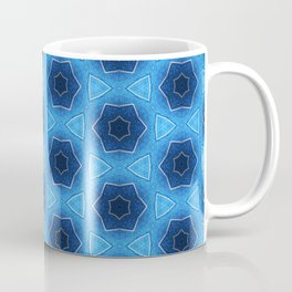 Blue sparkles silver stars pattern 1 Coffee Mug
