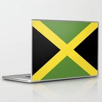 jamaica Laptop & iPad Skins featuring jamaica country flag  by tony tudor