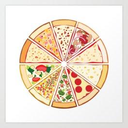 Feast of St. Pizza: Lebanon Edition Art Print