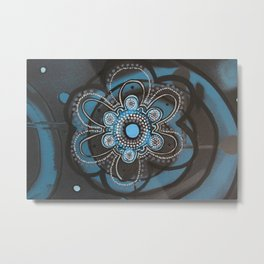 Spiral Flower Metal Print