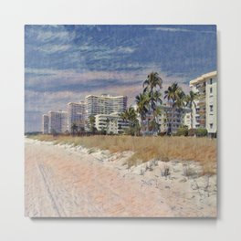 Marco Island, Florida South Seas Impressionist Painting Metal Print