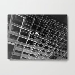 PEEKING THROUGH Metal Print