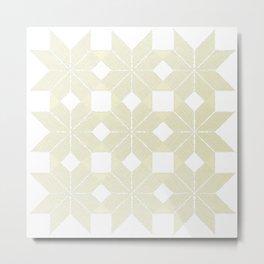 Snowflakes #61, White Wishmas Metal Print