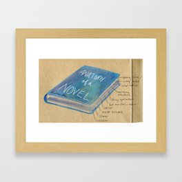 Anatomy of a Novel Framed Art Print