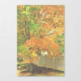 Autumn Gate Canvas Print