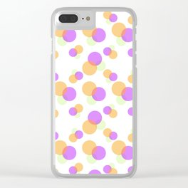 Spheres - Pastels Clear iPhone Case