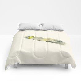 Cadmium Lemon Yellow Watercolor Tube Comforters