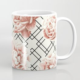 Simply Mod Diamond Roses in Cream and Black Coffee Mug