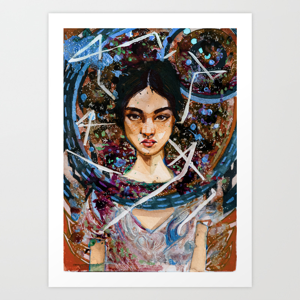 Lily Ice And Fire Art Print by Terribletraveler PRN9049783