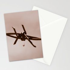 Spider on Barbed Wire Stationery Cards