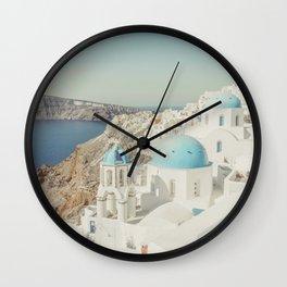 Santorini in Greece Wall Clock