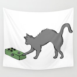 Kitty with a phaser pedal Wall Tapestry