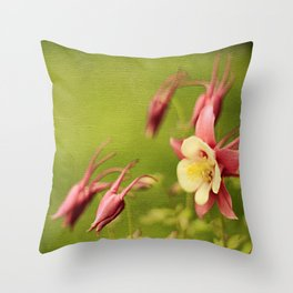 Columbine in Bloom Throw Pillow
