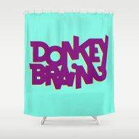 donkey Shower Curtains featuring Donkey Brain by Josh LaFayette