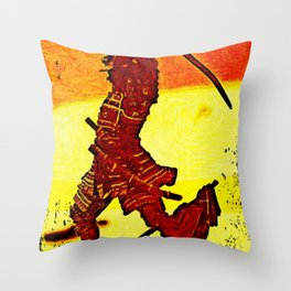 Ronin Red Throw Pillow
