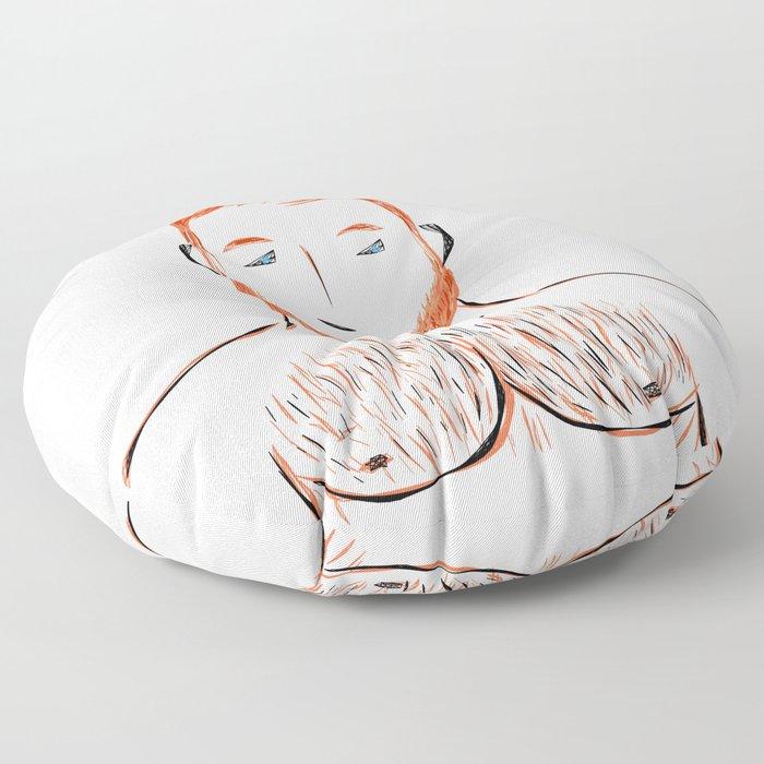 Beard Boy Flame 1 Floor Pillow