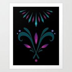 Elsa Embroidery Art Print