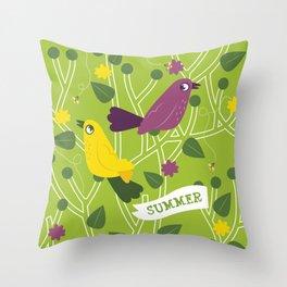 4 Seasons - Summer Throw Pillow