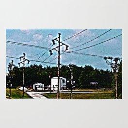 Jacksonville IL Rail Crossing 2 Rug