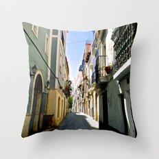 Winding Through Old Quarter Alleys Throw Pillow