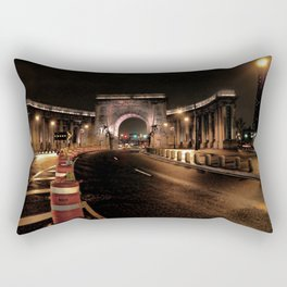 manhattan bridge at night Rectangular Pillow