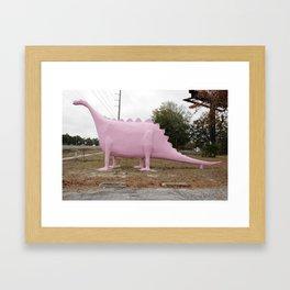 Spring Hill Dinosaur Framed Art Print