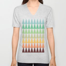 Colorful Corn Mountains Unisex V-Neck