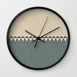 Texture Taupe and Grey Green Pattern Wall Clock