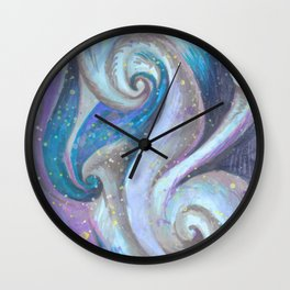 Swirl (blue and purple) Wall Clock