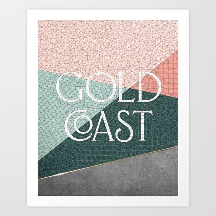 Gold Coast (Green) Art Print