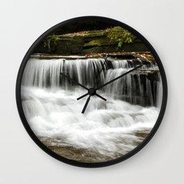 Whispering Waterfalls Landscape Wall Clock