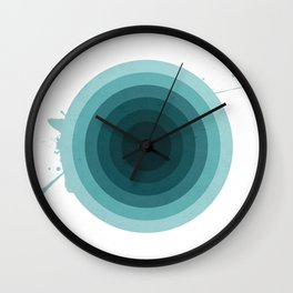 Circular Shades of Teal Wall Clock