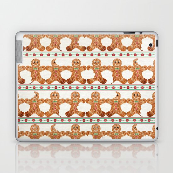 gingerbread man Laptop & iPad Skin