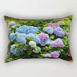 Hydrangea Garden Rectangular Pillow