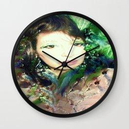 Jeweled GODDESS FAIRY WOOD NYMPH LADYKASHMIR Wall Clock