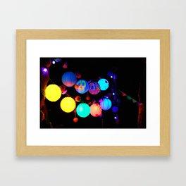 Lanterns of the Underworld Framed Art Print
