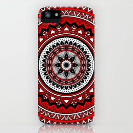 Red and Black Mandala iPhone Case