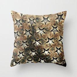 Serie Texturas - CleMpasS - Estrellas Throw Pillow