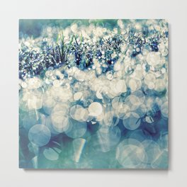 morning glitter Metal Print